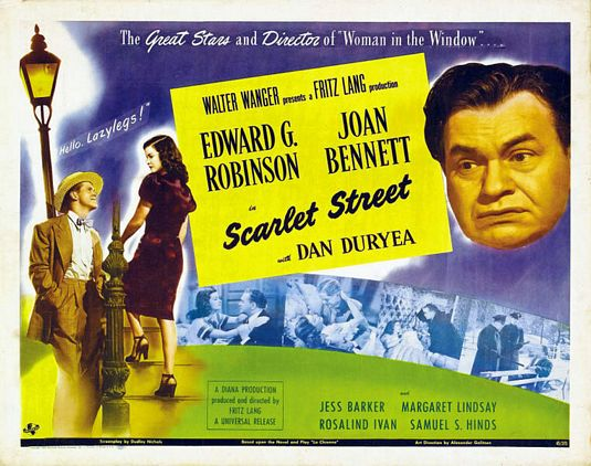 Scarlet Street Joan Bennett vintage movie poster #4